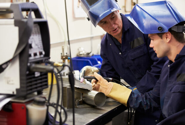 What gas is used for TIG welding