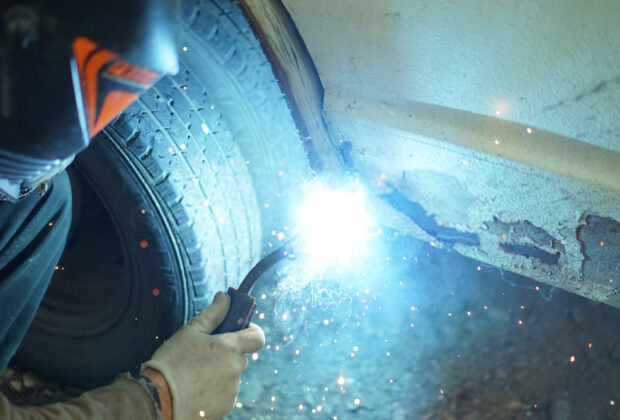 how to fix rust hole without welding